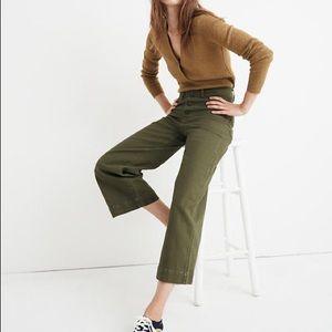 Madewell / Olive Tall Emmett Wide-Leg Crop Pants